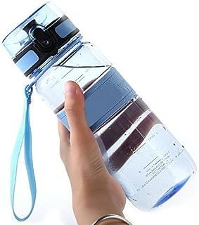 DeeFec Best Sport Water Bottle - 22oz Large - Fast Flow, Flip Top Leak Proof Lid w/One Click Open - Non-Toxic BPA Free & Eco-Friendly Tritan Co-Polyester Plastic Water Bottle