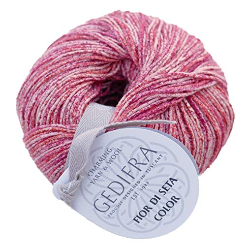Seidengarn Gedifra Fior di Seta color 01310 strawberry, reine Seide zum Stricken und Häkeln in verschiedenen Farben