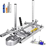 Chainsaw Mill, Portable Planking Milling 14 to 24 Inches Guide Bar Wood Lumber Cutting Sawmill with Chainsaw Sharpener File Kit & Work Gloves for Builders and Woodworkers (14' - 24')