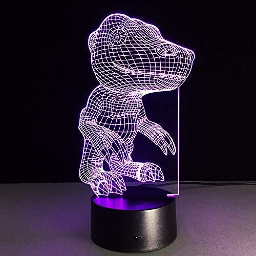 3D-Illusionslampe Cartoon Monster Nachtlicht LED neben Tischlampe, 16 Farben Auto Changing Touch Switch Schlafzimmer Schreibtisch Dekoration Lampen Kind Geburtstagsgeschenk