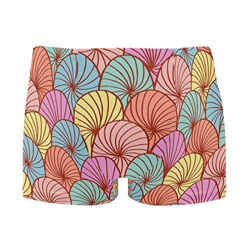 Abstract Hand Drawn Circle Pattern Uomo Solid Nuoto Shorts Moda Costumi da bagno 1 S