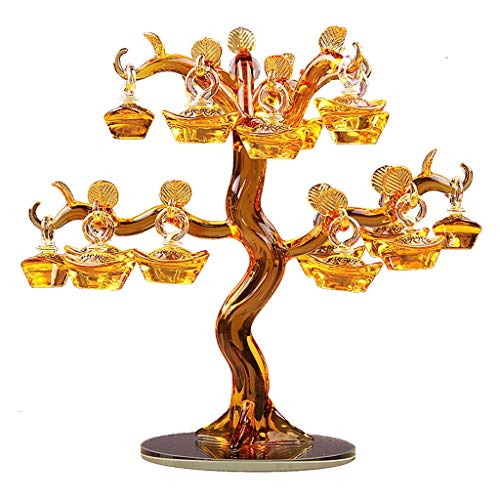LJXLXY Bonsai di Cristallo Regalos del Manzano Nuevas Decoraciones de Bodas Sala de Estar Productos Decoración de Personalidad for la Buena Suerte de Riqueza y Prosperidad Albero dei Soldi