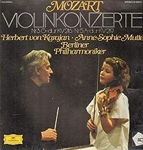 Wolfgang Amadeus Mozart - Anne-Sophie Mutter / Berliner Philharmoniker / Herbert von Karajan - Violinkonzerte · Violin Concertos No.3 G-dur KV 216 · No.5 A-dur KV 219 - Deutsche Grammophon - 34 835 9
