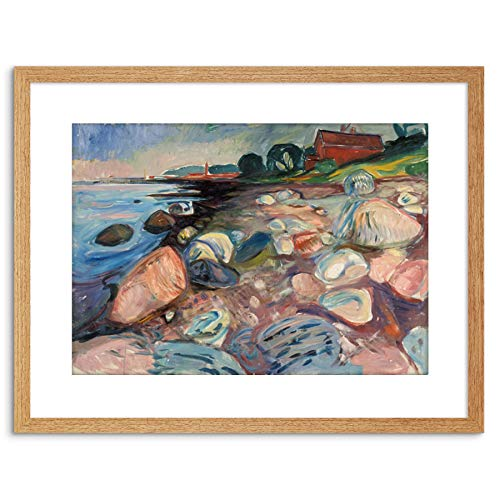 Painting Painting Edvard Munch Shore Red House Framed Art F97X12163