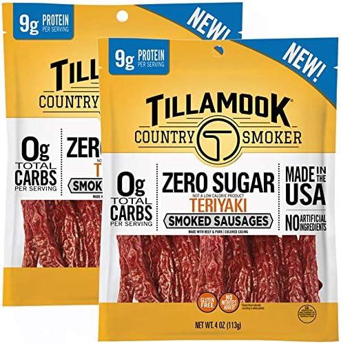 Tillamook Country Smoker Zero Sugar Teriykai Smoked Sausages 8 Ounces product image
