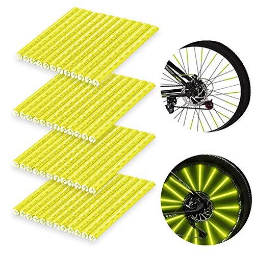 BOYATONG 48 Stück Speichenreflektoren Fahrrad,Reflektor Fahrrad,Fahrrad Reflektoren,Speichenreflektoren,Fahrradspeichen Reflektor,Speichen Reflektoren,Speichenreflektoren Fahrrad Kinder(Gelb)