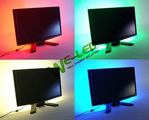 Bunt RGB LED Strip 39.4in 100 cm, LED-Hintergrundbeleuchtung, mit USB-Kabel (Gerneric RU1