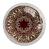 Estilo árabe patrón árabe cajón redondo pomos gabinete Tiradores tiradores de cristal blanco decoración del hogar Hardware 4 piezas