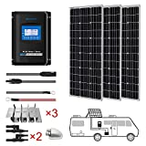 ACOPOWER 300 Watts 12/24 Volts Monocrystalline Panel Solar RV Kits with 30A...