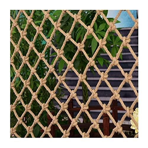 malla Red de escalada Cuerda de cáñamo de cáñamo red, escaleras de balcón red de protección, aislamiento infantil Neto en red de deportes al aire libre Red, jardín Stair Windows Techo de escalada Neto