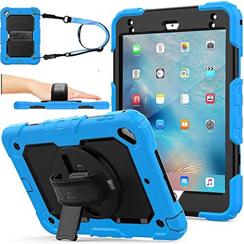 Funda para iPad Mini 5/4, a prueba de golpes, con soporte giratorio 360, protector de pantalla, correa de mano para iPad Mini...