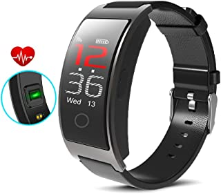 inDigi CX Fitness Activity Tracker & SmartWatch Heart Rate + Blood Pressure + SP02 Sensor - Pedometer - Push Notifications (SMS) & Call Alert (IP67 Waterproof)