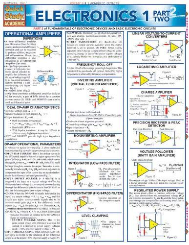 Electronics 1 Part 2 (Quickstudy Reference Guides - Academic)
