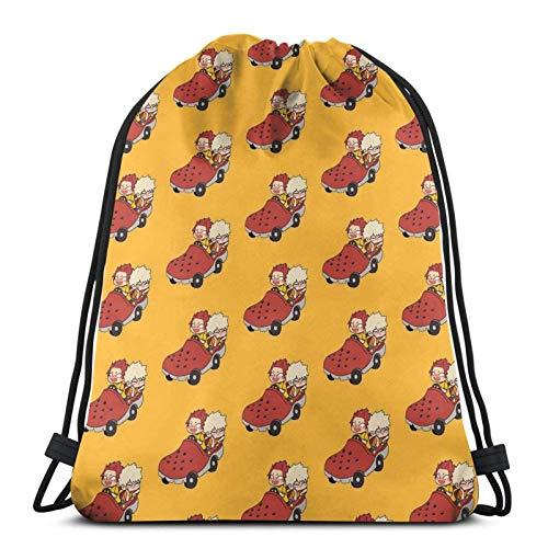 LAKILAN Drawstring Backpack,Gym Sack,Men Sport Bag,Large Capacity Travel Bag,Lightweight Rucksack,Storage Goodie Cinch Bag Croc Car!