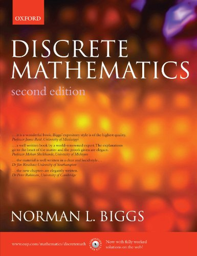 Compare Textbook Prices for Discrete Mathematics 2nd Edition ISBN 9780198507178 by Biggs, Norman L.