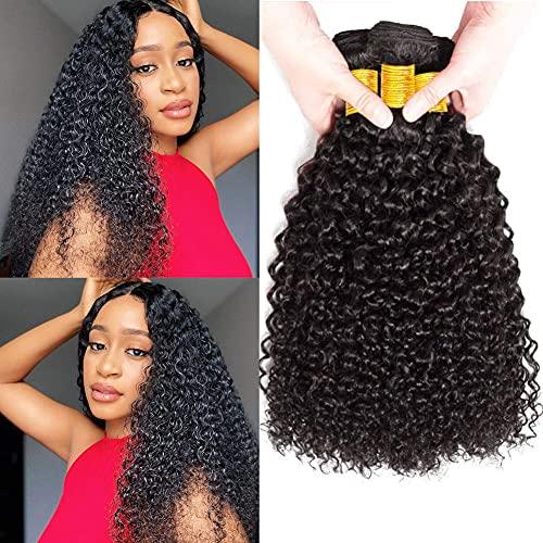 Musi 8A tissage bresilien Cheveux 3 Bundles 100% Non Transformés Vierge Kinky Bouclés Cheveux Brésiliens Bouclés extension kinky Bundles meche bresilienne lot pouce (14 16 18)