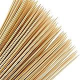 YOTINO 100 Pezzi Spiedini di Legno, 4mm*40cm Bastoncini Spiedini Lunghi di Bambu, Spiedini...