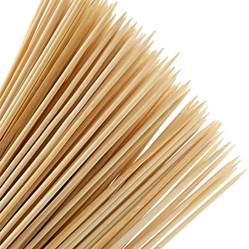 POKIENE 100 Stück Schaschlikspieße aus Bambus - extra große Länge 40cm / Ø4mm Grillspieße - Holzspieße aus Bambus für Hotellerie Gastronomie Imbissbetriebe Festlichkeiten