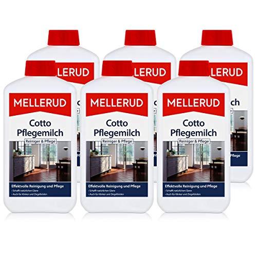 Mellerud Cotto Pflegemilch 1L - Schutz, Pflege und Glanz (6er Pack)