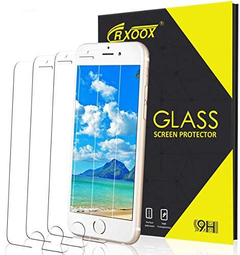 CRXOOX 3 Stück Panzerglas für iPhone 7/8 Ultra Klar Schutzfolie, 9H Härte Folie, Anti-Kratzer, Anti-Fingerabdruck Blasenfrei Einfache Installation Panzerglasfolie Displayschutzfolie für iPhone 7/8