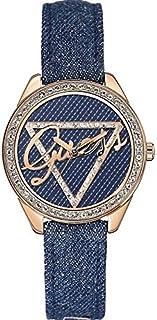 Guess Little Flirt Women's Blue Dial Leather Band Watch - W0456L6