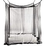 Mingi Summer Mosquito Net Elegante Cortina de Dosel de Encaje Home Netting Quarto Puertas para Camas Dobles Habitación para niños, A