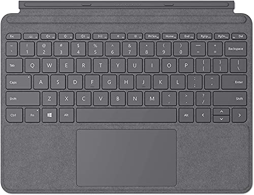 Microsoft Surface Go Signature Type Cover teclado para móvil Platino QWERTY Italiano - Teclados para móviles (Platino, Tejido alcántara, Microsoft, Surface Go, Trackpad, 25,4 cm (10'))