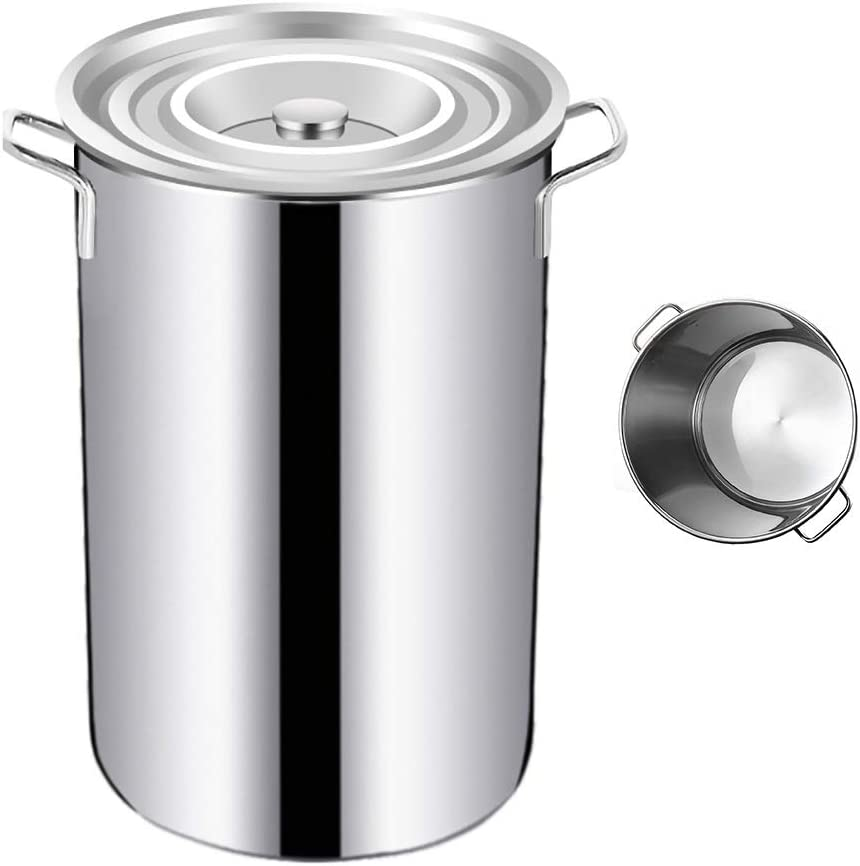 Stockpots Large Stock Pot gift Extra Max 61% OFF Heightened Barrel Thick 304 Stai
