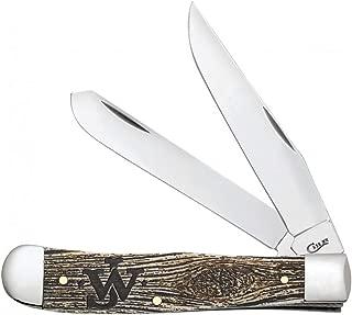 CASE XX WR Pocket Knife 10705 John Wayne Natural Bone Trapper W/Amber Color Wash (6254 SS)