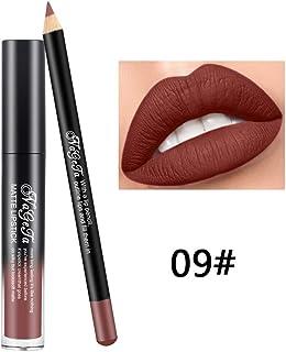 Xiton 2PCS  SET brillo de labios Perfilador Set lápiz labial duradero largo mate impermeable líquido del lustre lápiz de ...