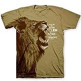 Kerusso Men's Lion - All Over T-Shirt - Brown -2X