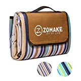 ZOMAKE Foldable Picnic Blankets Tote with Waterproof and Sandproof for Family...