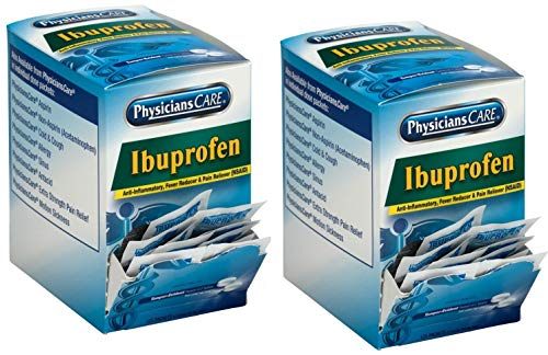 PhysiciansCare Ibuprofen, 125 Doses of 2 Tablets, 200 mg - 2 Pack (250 Doses)