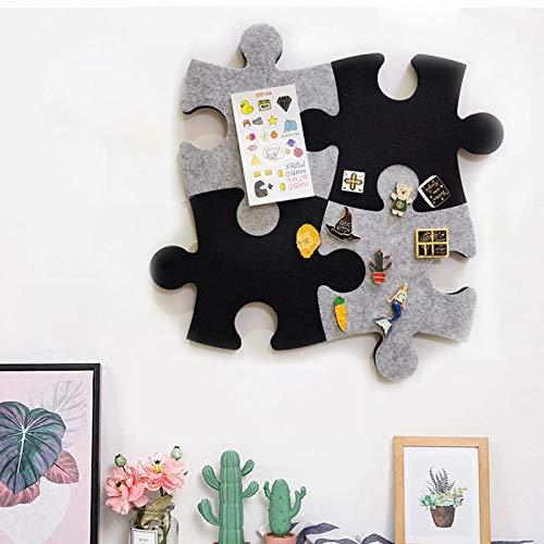 Vilt Bulletin Board Cork Board Tegels, Set van muur Jigsaw Puzzel Vorm Pin Eva Board Zelfklevend om Foto's Memos Display Board Pads Foto's Tekenen Doelpunten Opmerkingen Kleurrijke Schuim muur Decoratieve L C
