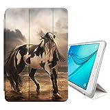 FJCases Weiß Pferd Hengst Tier Smart Cover Tablet-Schutzhülle Hülle Tasche + Auto aufwachen/Schlaf Funktion für Samsung Galaxy Tab A - 10.1