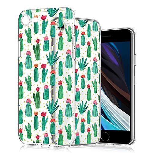 Funda para iPhone SE 2020/7/8 de Wonfurd, diseño de flores, de gel, fina, hecha a mano, antigolpes, para iPhone SE 2020/7/8-13