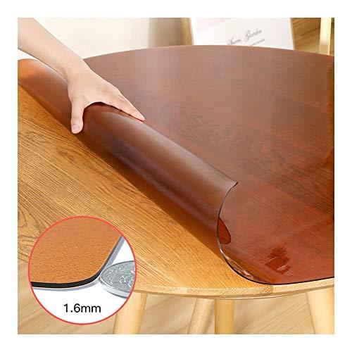 NINGWXQ Tafel Cover Protector Bureaustoel Mat plastic tafelkleed Harde vloermatten Tapijtlopers 1,6 mm dik, 6 kleuren, aanpasbaar (Color : B, Size : Diameter-135CM)