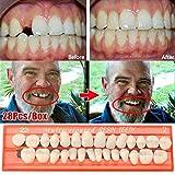 Wiivilik Los Dientes 28pcs / Set de Resina Modelo Duradero Dentaduras Universal Resi Dientes Falsos Dientes de Resina Modelo
