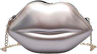 Women Sexy Lips Style Fashion Pu Ladies Day Clutch Bag Chain Purse Shoulder Bag Handbag Women'S Crossbody