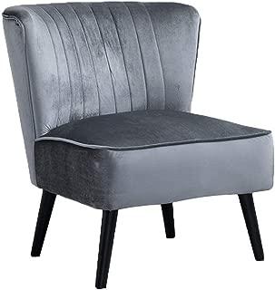 Best silver velvet bedroom chair Reviews