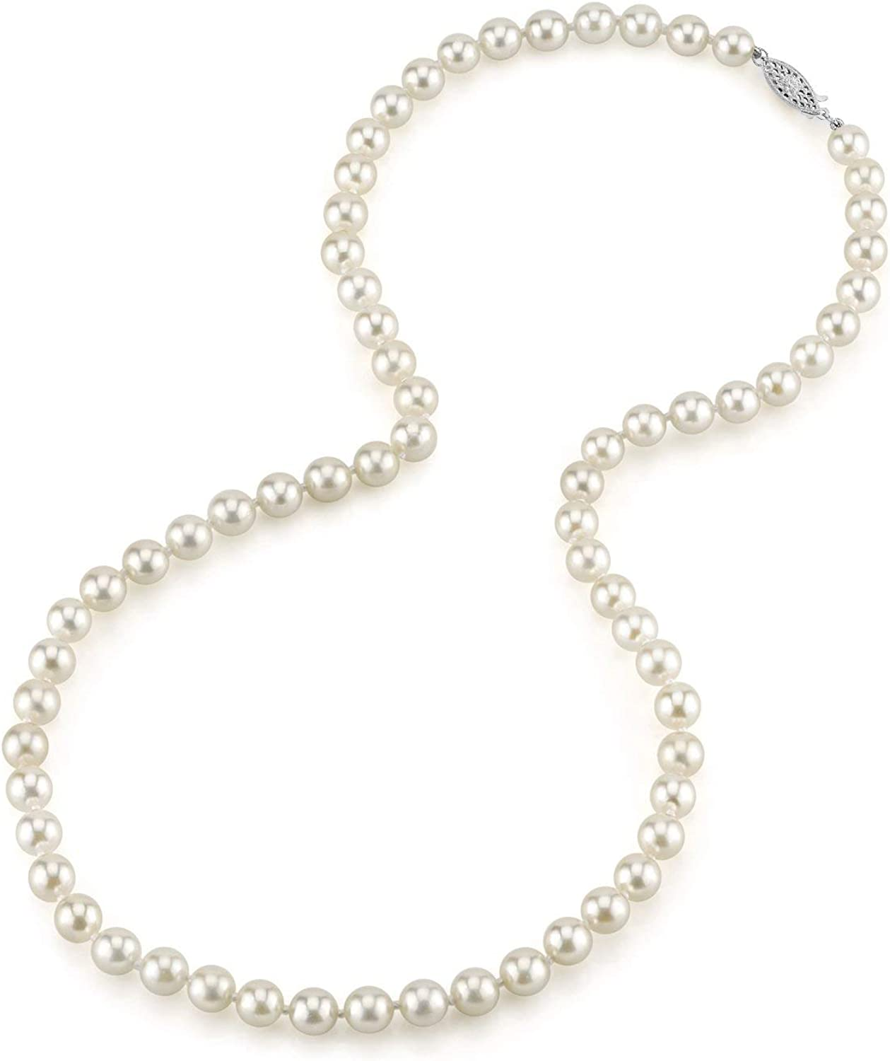 THE PEARL SOURCE Luxury goods Save money 14K Gold 6.0-6.5mm Genuine Wh Quality Round AAA