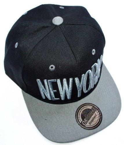 Casquette New York Snapback Hip Hop - Dans de nombreuses couleurs tendance - Fournisseur : Outlet King - Couleur : gris noir