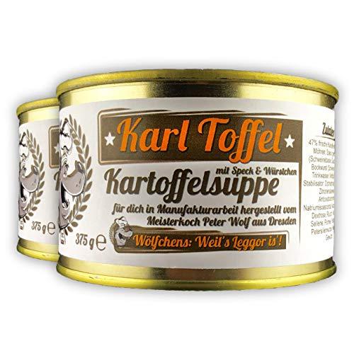 Wölfchens Gourmet Karl Toffel Kartoffelsuppe in der Dose (2 x 375 g)