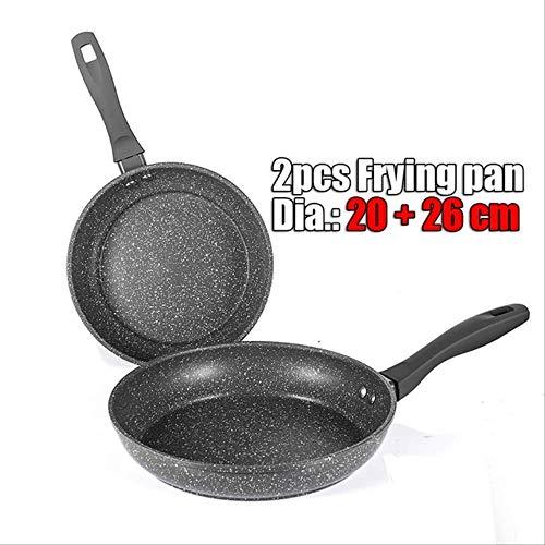 siyao Pan Free Stone-Derived Frying Pan Coating 5 lagen Bodem Zachte Handvat Aluminium Vaatwasser Safe Koken Pan Set Spanje 2 Stks Koken Pan Set