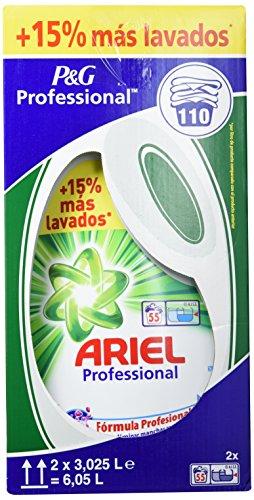 Ariel Professional Detersivo Liquido per Bianchi e Colorati, 110 Lavaggi, 3,025 L, 2 Pezzi