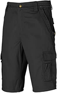 Dickies Industry 300 Two-Tone Elasticated Cargo Pockets Work Shorts Black-Black