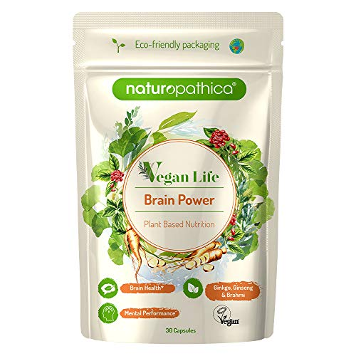 Naturopathica Vegan Life | Brain Power | Plant Based | 30 Capsules