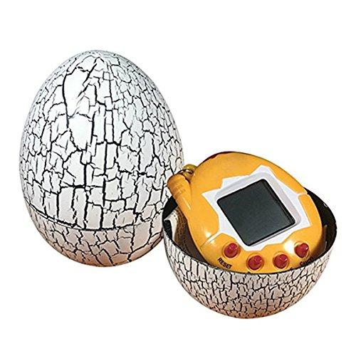 RETYLY Electronic Pets Infantil Toy Key Digital Pets Vaso Dinosaur Egg Virtual Pets Blanco