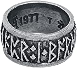Alchemy Gothic Runes Hombre Anillo Plateado S, Peltre,