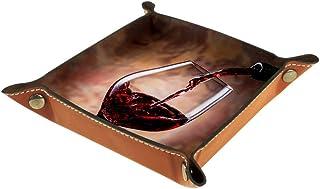Vockgeng Vin Rouge Smog Romantique Boîte de Rangement Panier Organisateur de Bureau Plateau décoratif approprié pour Burea...